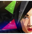 with an asian woman face in polygonal style modern vector image vector image