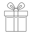 xmas gift box icon outline style vector image