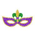 mardi gras glitter mask vector image