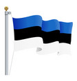 waving estonia flag isolated on a white background vector image