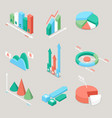 chart and graphs statistics finance analysis vector image