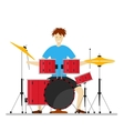Drum Player Man vector image