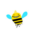 a cartoon bee funny bee bumblebee image is vector image