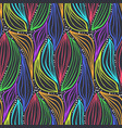 abstract color pattern with magic leaves and drops vector image vector image