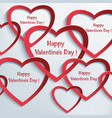 abstract valentine day background with heart vector image