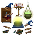acculite ancient manuscripts books potion hat vector image vector image