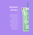 alcohol drinks advertisement poster design text vector image
