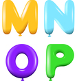 Alphabet letters MNOP colors vector image vector image