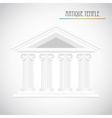 ancient columns vector image vector image