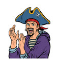 applause a man pirate carnival costume with hat vector image