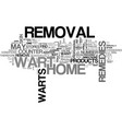 at home wart removal text word cloud concept vector image vector image