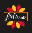 autumn frame with colorful fall leaves lettering vector image
