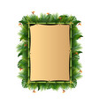 blank sign with tropical forest background vector image vector image