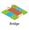 bridge icon isometric style vector image