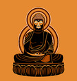 Buddha Amitabh vector image vector image