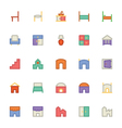 Building and Furniture Icons 11 vector image vector image