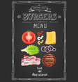 cafe burgers menu food restaurant template design vector image vector image