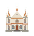 catholic church religious building cathedral vector image