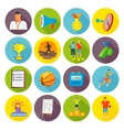 Coaching Sport Icons Flat vector image