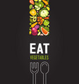 collection of ripe vegetables vector image vector image