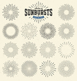 collection sunbursts vector image