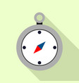 compass icon flat style vector image