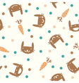 cute seamless pattern with rabbits and carrots vector image vector image