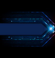 digital technology futuristic abstract blue vector image