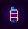 drink can neon sign vector image
