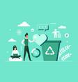 eco green environmental recycle concept vector image