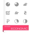 economic icons set vector image