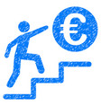 euro business steps icon grunge watermark vector image vector image