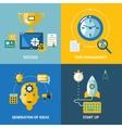 generation ideas start up time management vector image