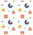 geometry memphis seamless pattern vector image vector image