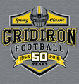 Gridiron football t-shirt graphic design vector image vector image