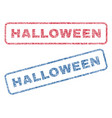 halloween textile stamps vector image vector image