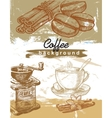 hand drawn coffee vector image vector image