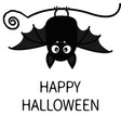 happy halloween bat hanging cute cartoon baby vector image vector image