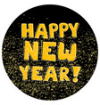happy new year hand drawn golden wishes on black vector image vector image