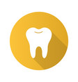 healthy tooth flat design long shadow glyph icon vector image