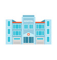 hospital flat building icon vector image