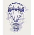 Hot air balloon ball pen sketch vector image vector image