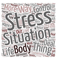 How You Can Find Stress Relief text background vector image vector image