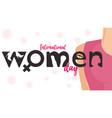 international women day banner graphic vector image vector image