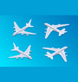 isometric passenger airplane 02 vector image vector image