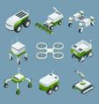 isometric set of iot smart industry robot 40 vector image vector image