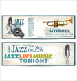 Jazz background vector image