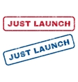 Just Launch Rubber Stamps vector image vector image