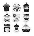 Laundry Room Black And White Label Set vector image