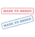 made to order textile stamps vector image vector image